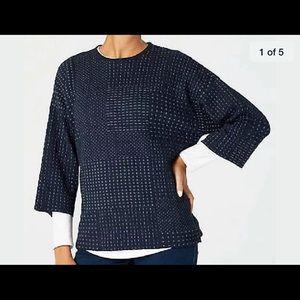 Pure Jill blue textured kimono style sweater